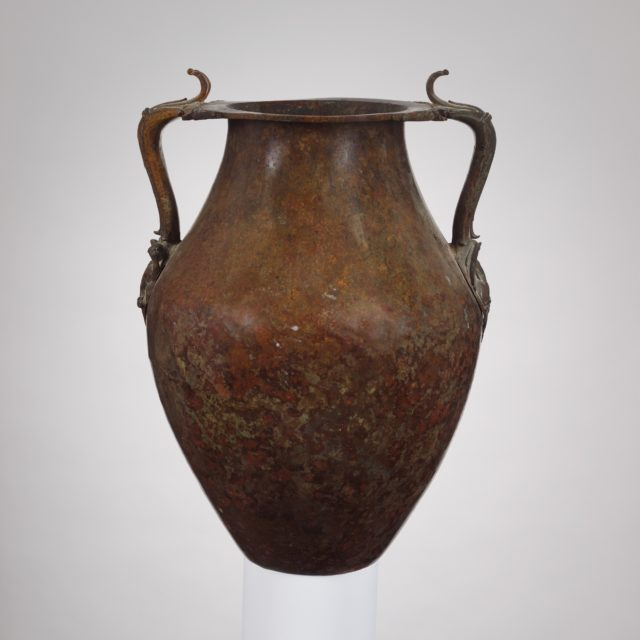 Bronze jar with two handles