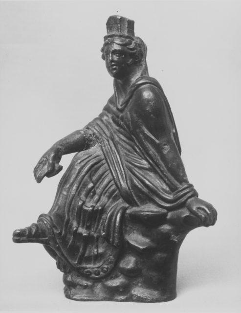 Bronze statuette of Tyche (Good Fortune)