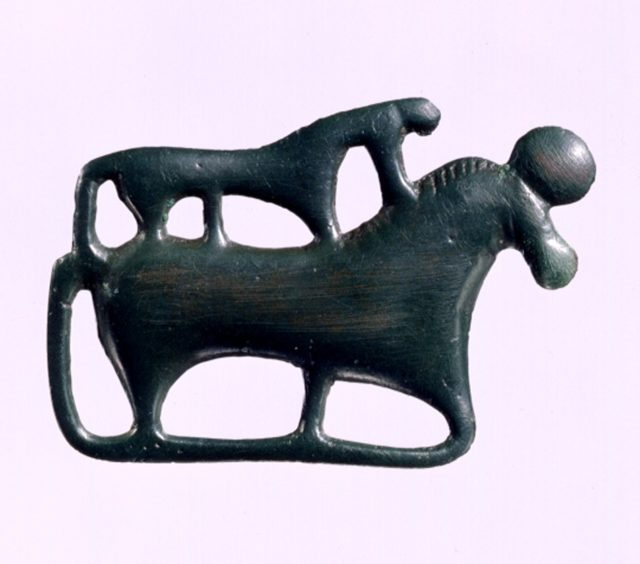 Garment Plaque in the Shape of Two Horses