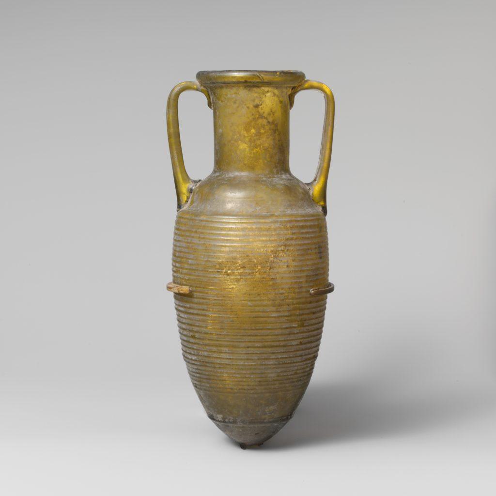 Glass amphora (jar)
