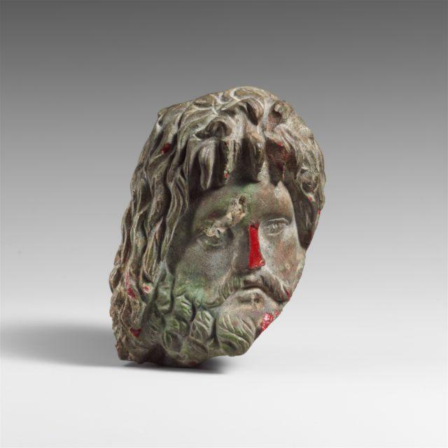 Glass head of Zeus Sarapis