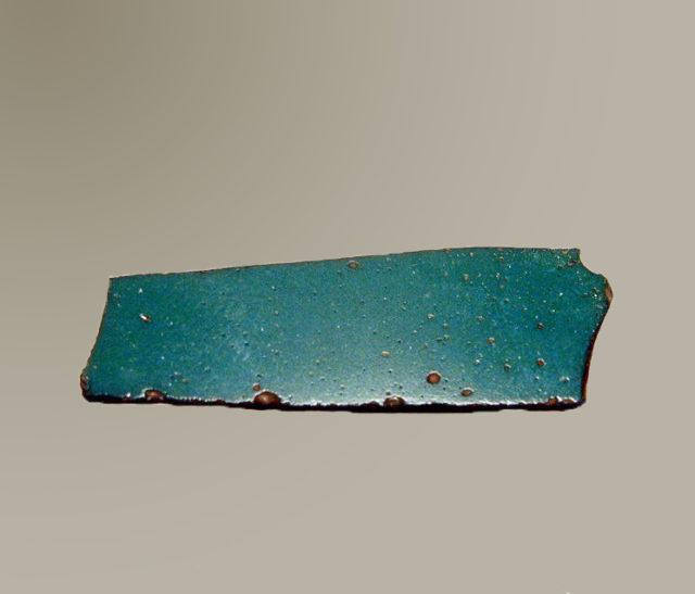 Glass monochrome inlay fragment