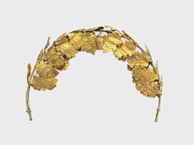 Gold funerary wreath