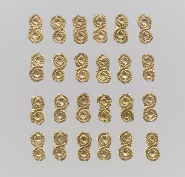 Gold sheet appliques