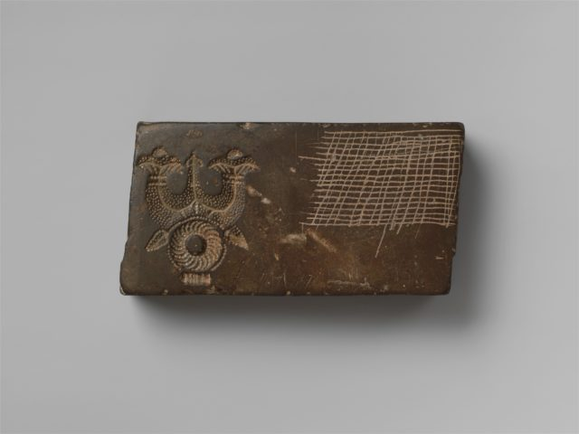 Jewelry Mold with Figures in a Temple