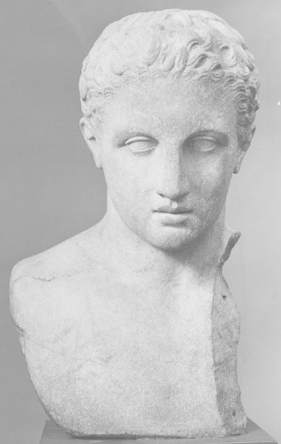 Marble bust of a youth