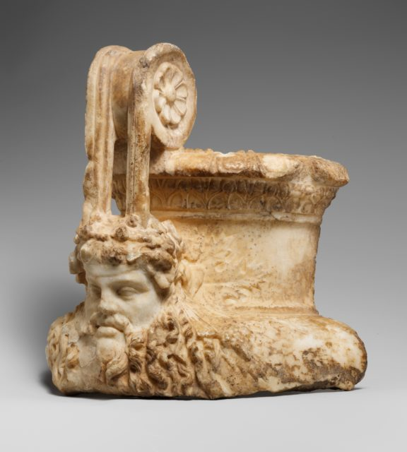 Marble fragment of a volute krater