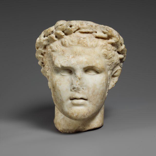 Marble head  of Herakles