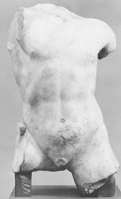 Marble torso of a boy