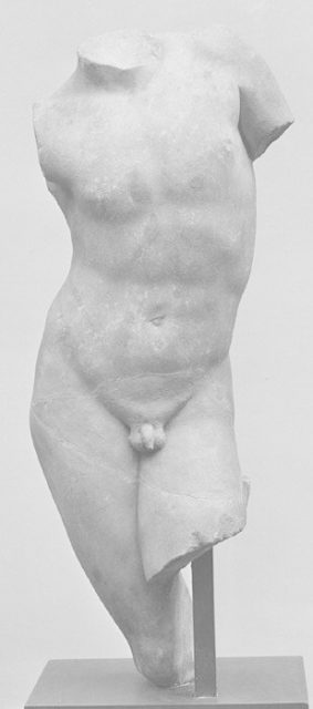 Marble torso of a youth