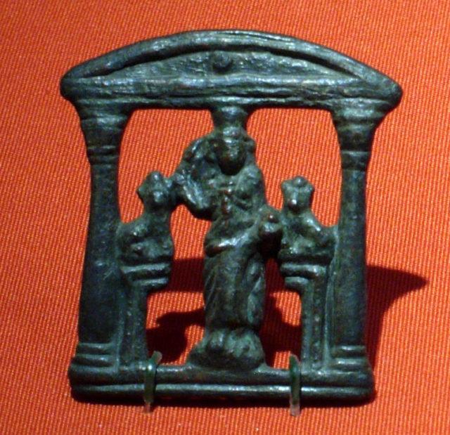 Plaque representing an Egyptian open shrine (kiosk)