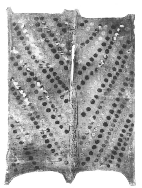 Robe made to imitate leopard skin with rosettes with the name of Harnedj-?