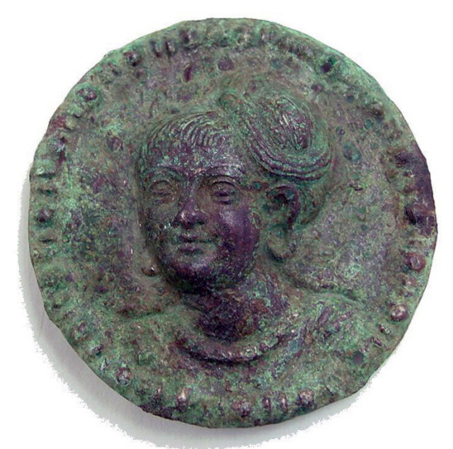 Rondel with Female Head