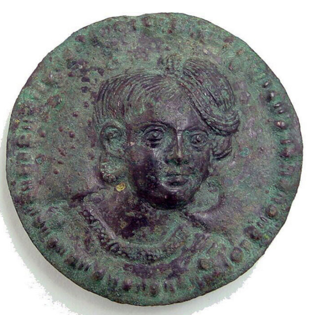 Rondel with Male Head