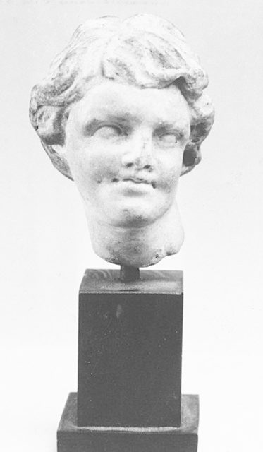 Small marble head of a youth
