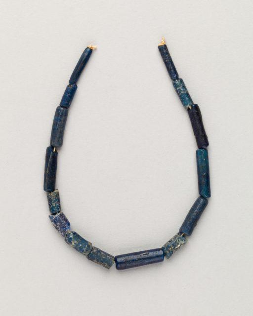 String of 15 bugle beads