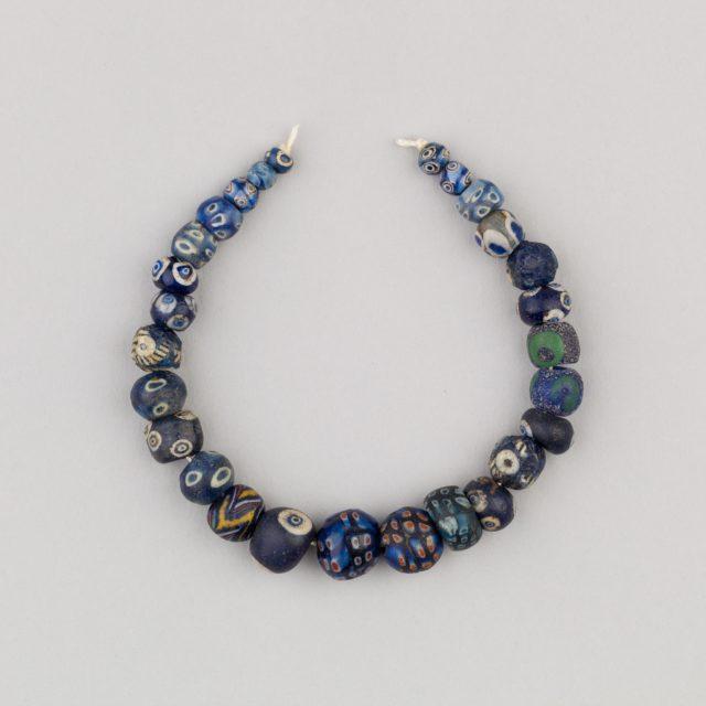 String of 27 Eyed Beads