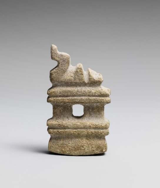 Temple with Figure