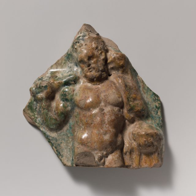 Terracotta vase fragment with figure of Hercules