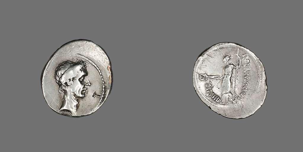 Denarius (Coin) Portraying Julius Caesar