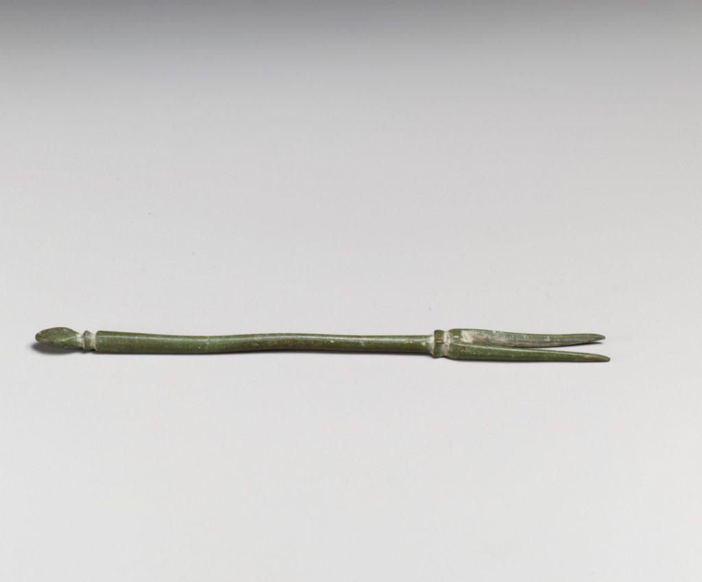 Bronze serving fork