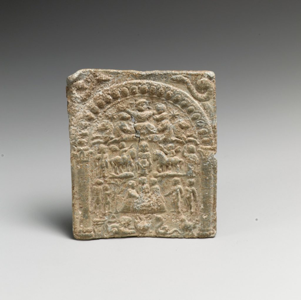 Lead votive plaque