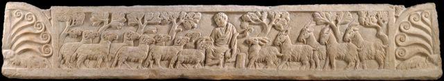 Sarcophagus Lid with Last Judgement