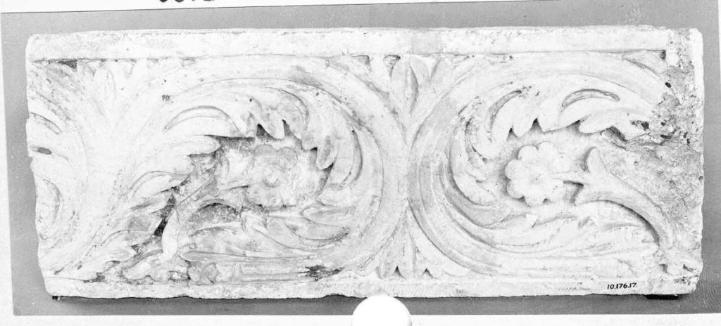 Fragment of a Frieze with Acanthus Scrolls, Palmettes, and Flowers