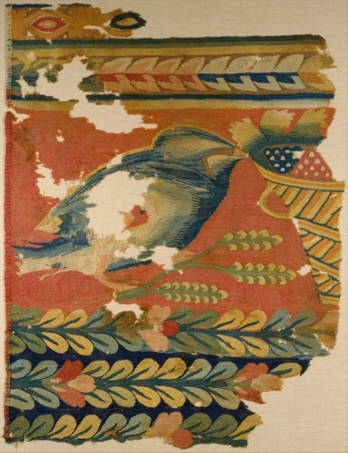 Hanging Fragment with Bird and Basket