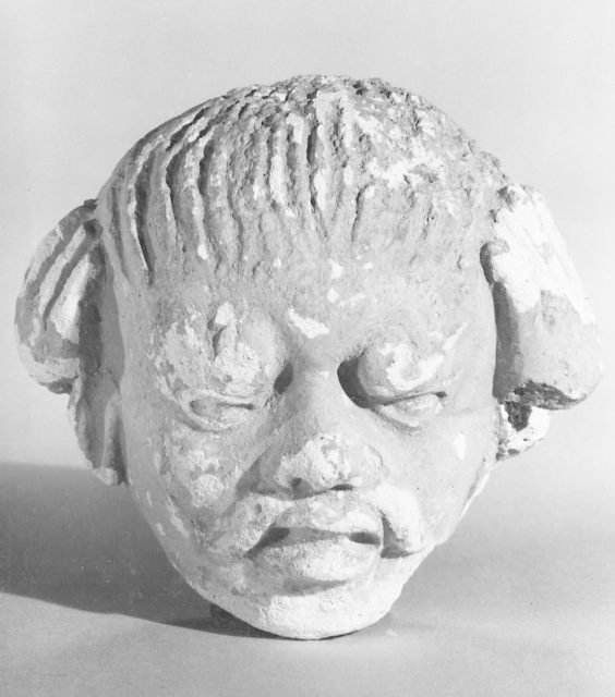 Head of a Male Figure with a Mustache