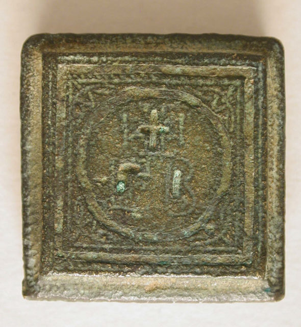 Copper-Alloy Balance Weight with Cross in a Circular Border