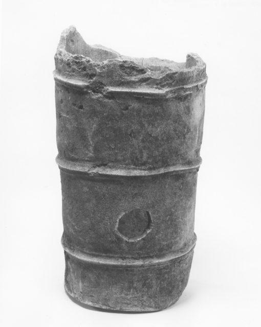 Fragmentary haniwa cylinder