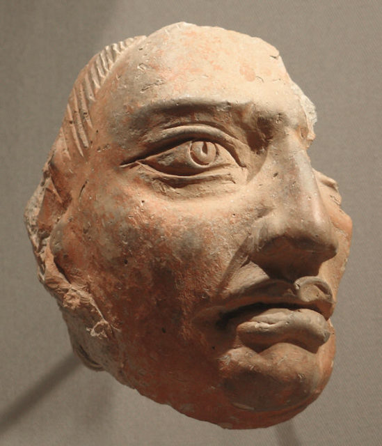 Head Fragment from a Plaque