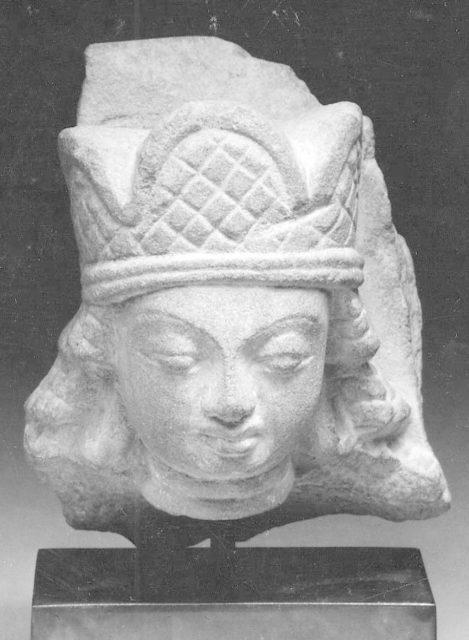 Head of Vishnu Wearing Three-Lobed Crown