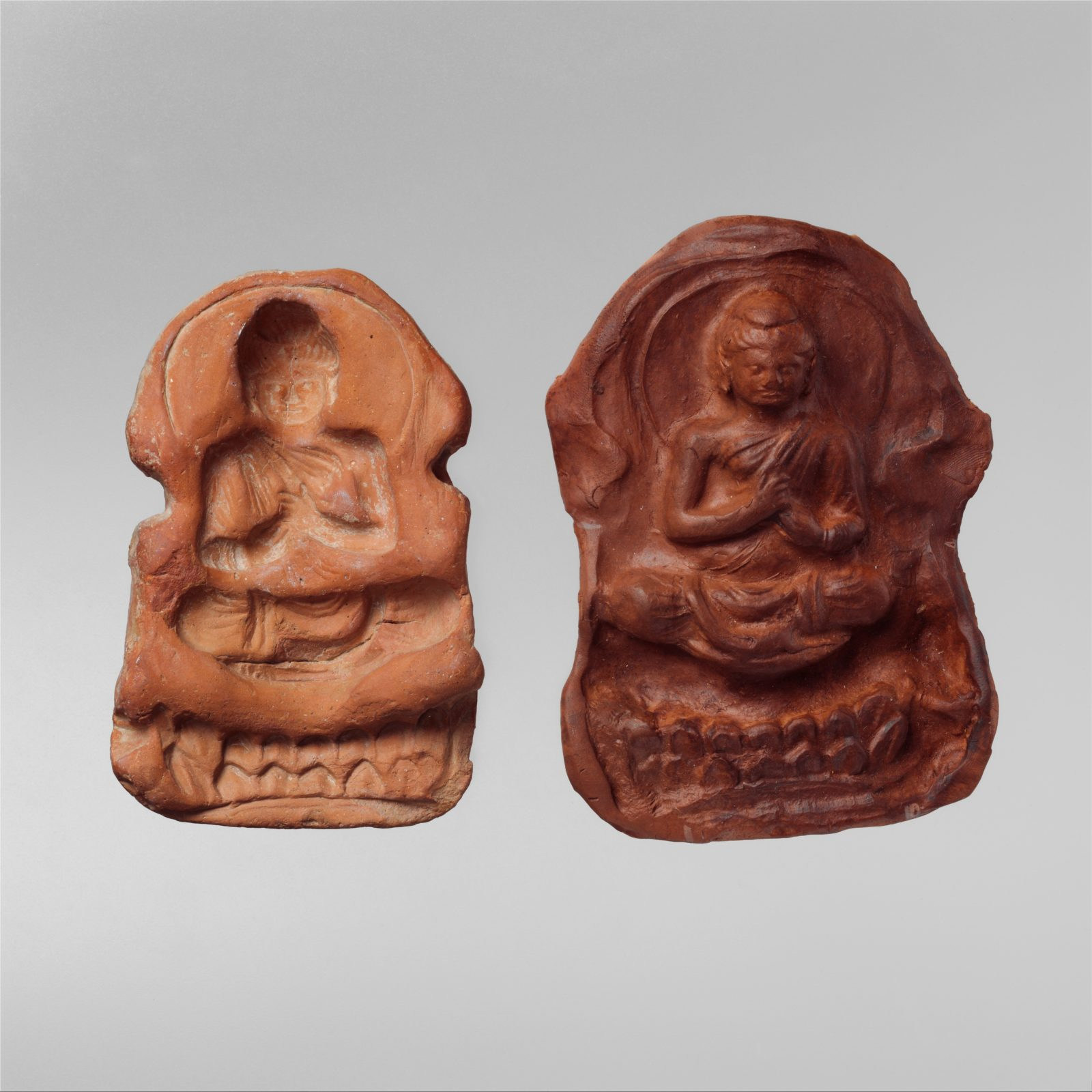 Mold and Impression for a Seated Buddha