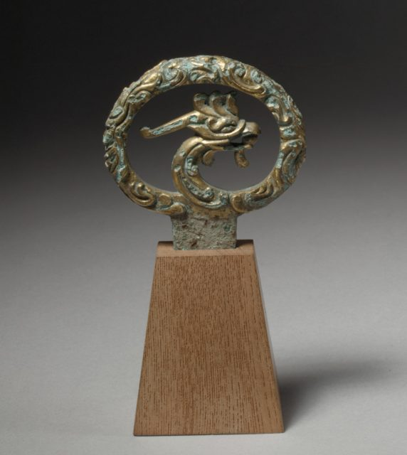 Sword Pommel with Phoenix Head