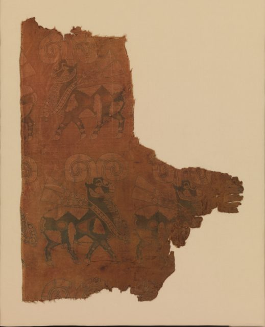 Textile with Processions of Rams