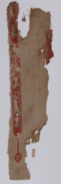 Tunic Fragment with Lions and Putti