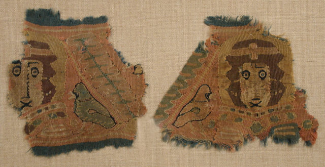 Two Fragments with Human Faces and Birds