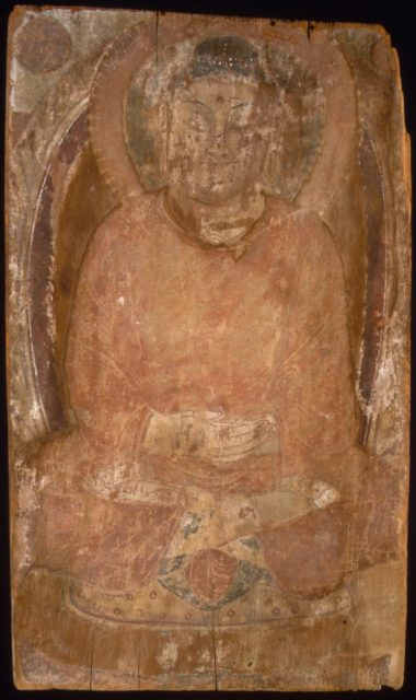 Buddha with a Halo and Flaming Body Mandorla