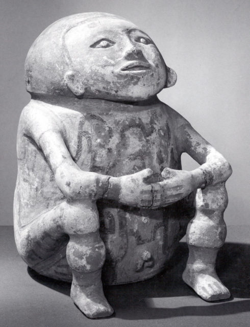 Ceramic Vessel in the Form of a Seated Man