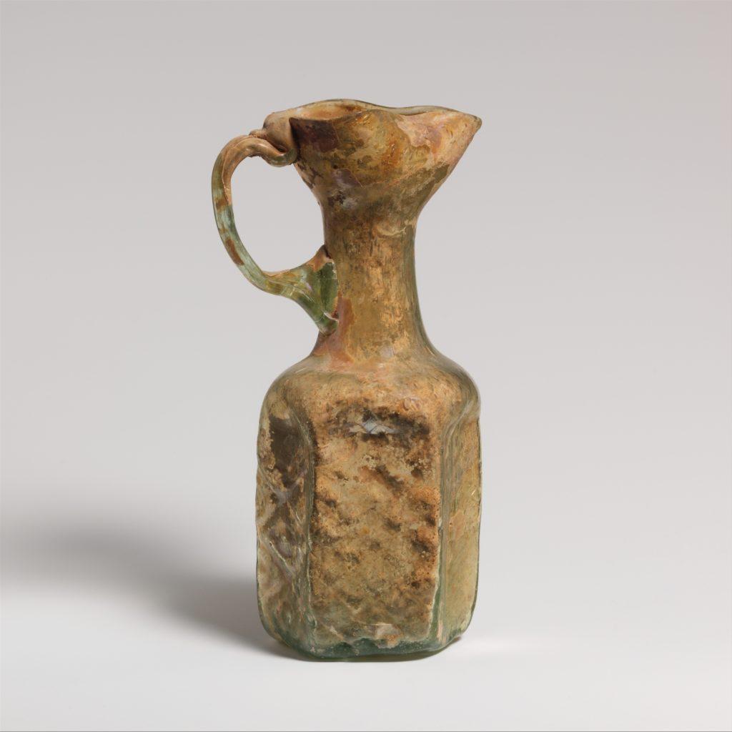 Glass hexagonal jug