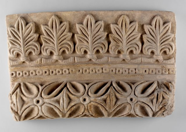 Moulding from arched doorway with palmettes