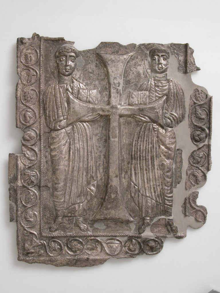 Plaque with Two Saints