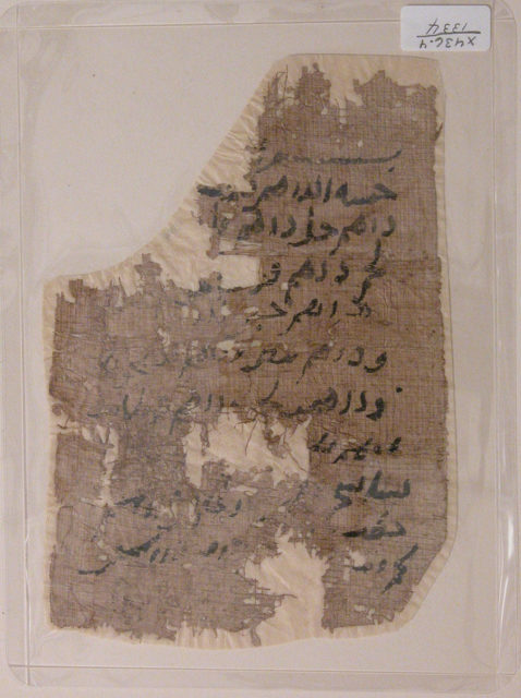 Fragment of a Non-Illustrated Single Work