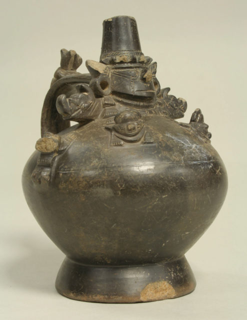 Bottle with Figures