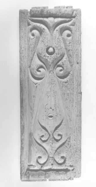Carved Architectural Panel in the 'Beveled Style'