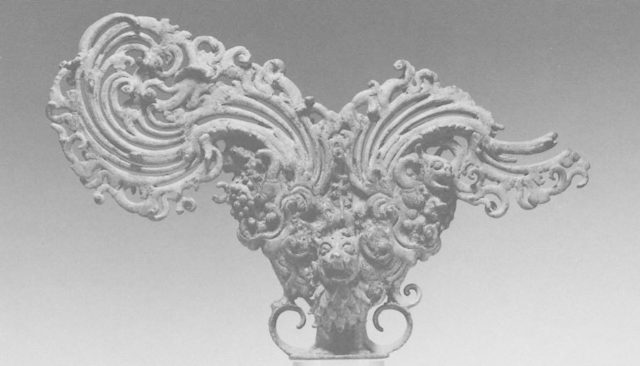Finial with Lions and Makaras