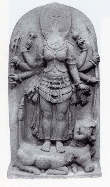The Goddess Durga Victorious over the Buffalo Demon, Mahisha (Mahishasuramardini)