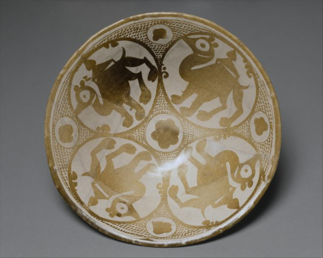 Bowl with the Image of Four Camels